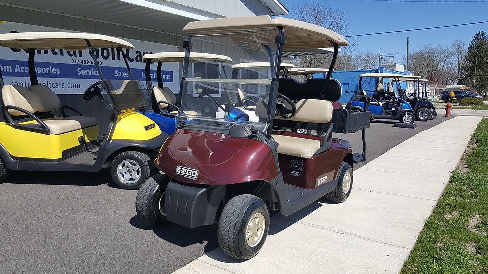 2011 EZ Go RXV 48V Utility Golf Cart: Burgundy Metallic