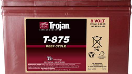 Trojan T-875 8V Golf Cart Battery (with Core)