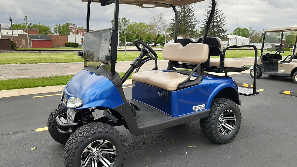 2016 EZ Go RXV 48V Lifted Street Legal Blue Metallic