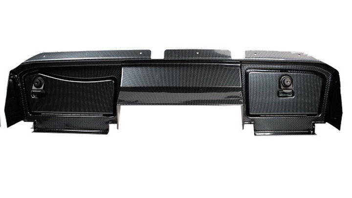 Carbon Fiber Dash Assembly With Lock For E-Z-GO G&E RXV (Years 2008-2015)