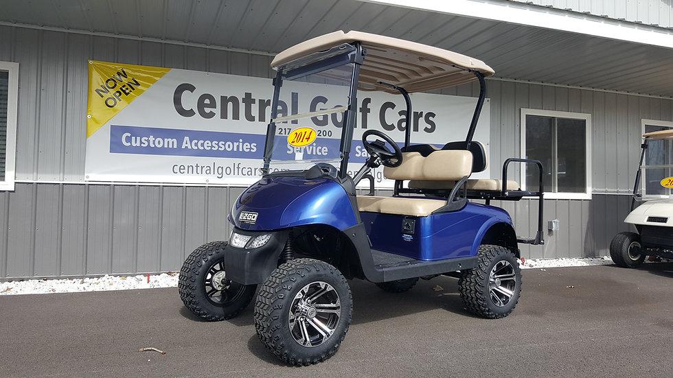 2014 EZ Go RXV 48V Street Legal Golf Cart: Blue Metallic
