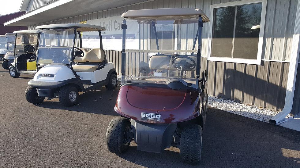 2011 EZ Go RXV 48V Golf Cart: Burgundy Metallic