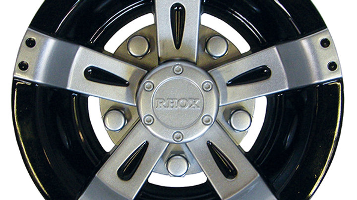 "Wheel Cover, 8"" Vegas Silver Metallic w/ Black"