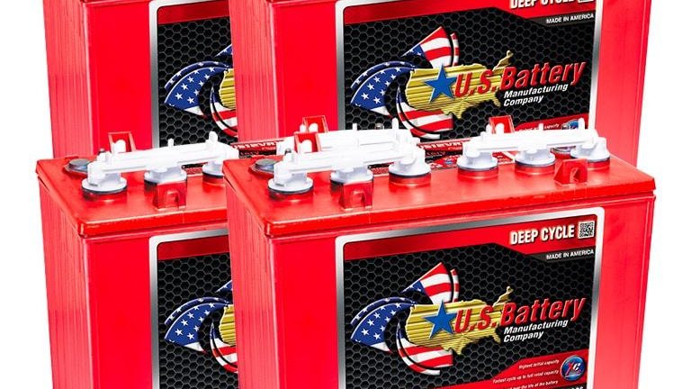 US Battery US12VXC 12V Golf Cart Battery, Set of 4 (with Core)