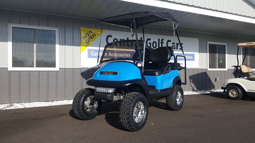Golf Cart Convertible Top w/ Storage Boot: Black