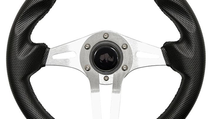 """Steering Wheel, Challenger Black w/ Aluminum Spokes 13"""""""