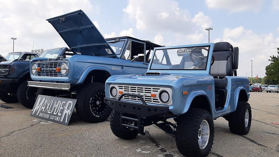Custom Ford Bronco Lifted Golf Car, Brittany Blue