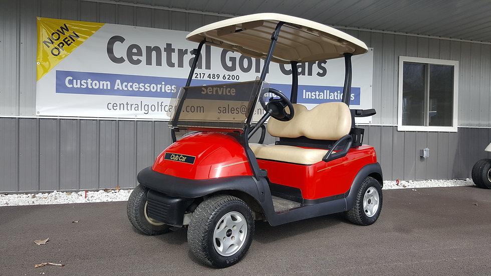 2012 Club Car Precedent 48V Golf Cart: Red