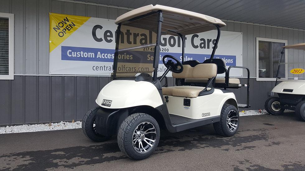 2014 EZ Go RXV Gas Golf Cart 4 Passenger: White