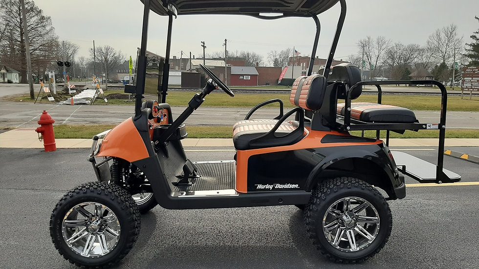 2017 EZ Go RXV 48V Lifted Harley Theme Cart