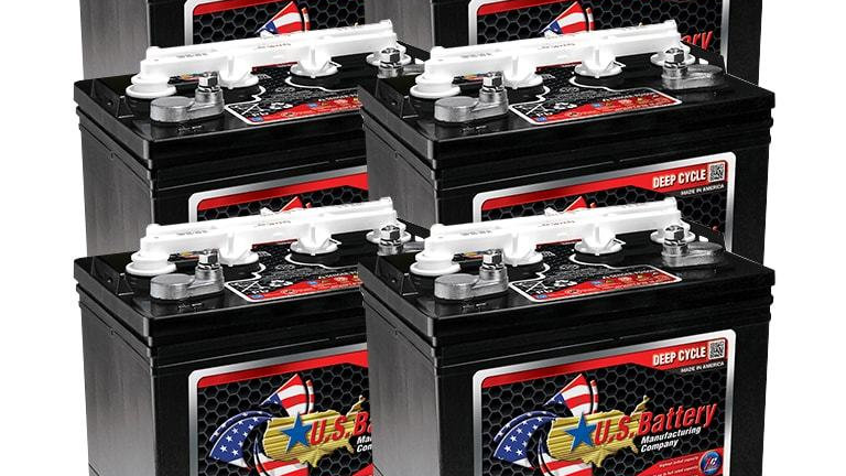 US Battery CG8VP 8V Golf Cart Battery, Set of 6 (with Cores)