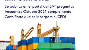 SAT actualiza el documento 'Preguntas frecuentes Complemento Carta Porte': Gamas Consultoría.