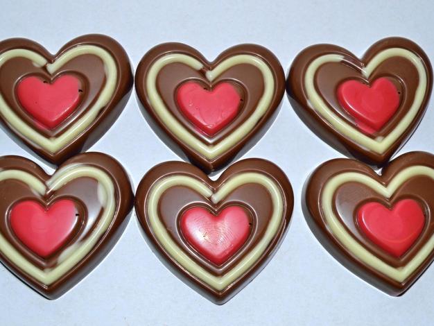 Chocoladehartjes