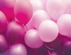 mariage festif, ballons roses
