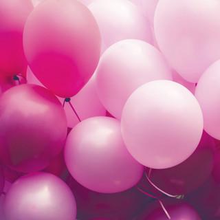 Pink eco balloons!