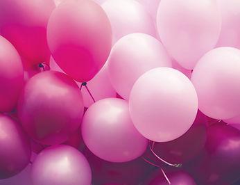 Los globos de color rosa