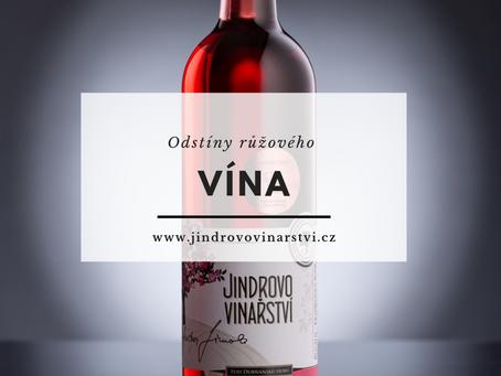 Odstíny růžového vína