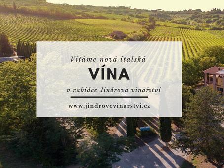 Vítáme nová italská vína v naší nabídce