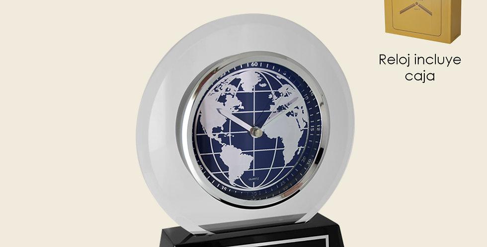Reloj esfera mapa mundi