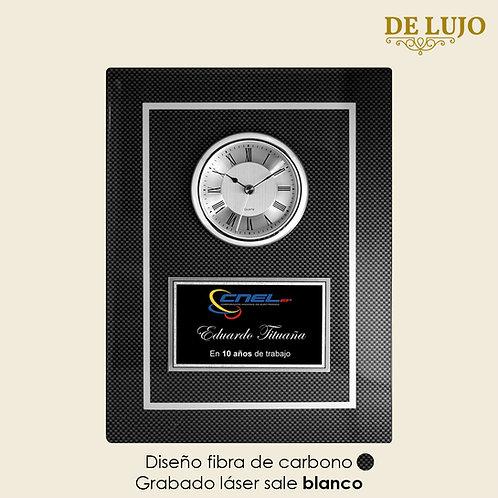 Reloj placa de lujo diseño fibra de Carbono