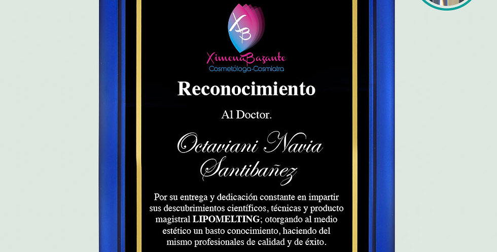 Placa de Acrílico Azul/Negro