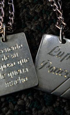 Placas de cadena