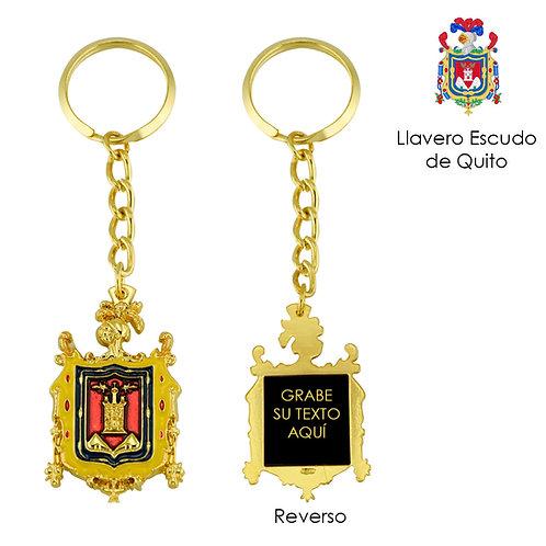 Llavero Metálico Escudo de Quito