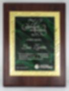 Placas conmemorativas, Placas de reconocimiento