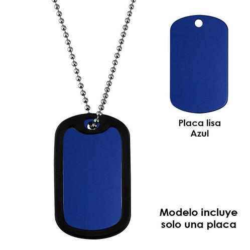 Identificación militar lisa Azul