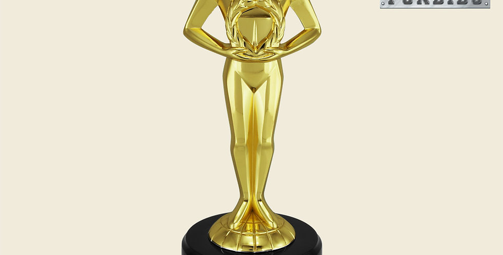 Trofeo Oskar de Metal (Base de Plástico)