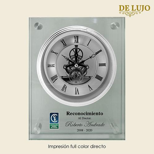 Reloj lujo de Cristal