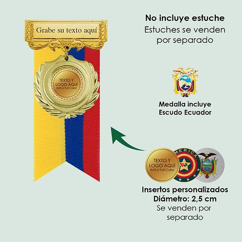 Medallas de condecoración en Quito