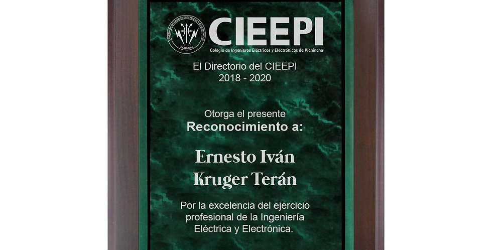 Placa de Acrílico Verde
