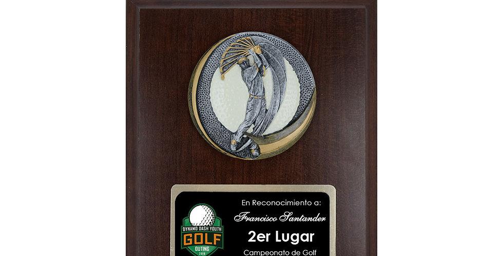 Placa aplique golf masculino