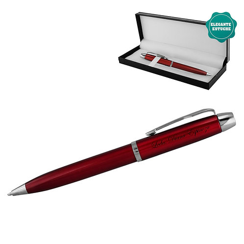 Bolígrafo metálico rojo