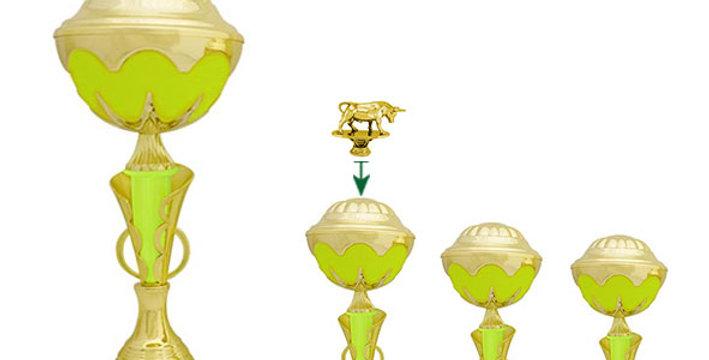 Copa Raffa Verde Fluorescente