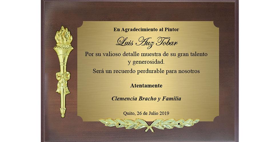 Placas de reconocimiento en Quito