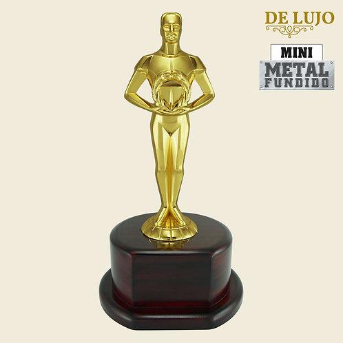 Trofeo Oskar de Metal (Base de madera)