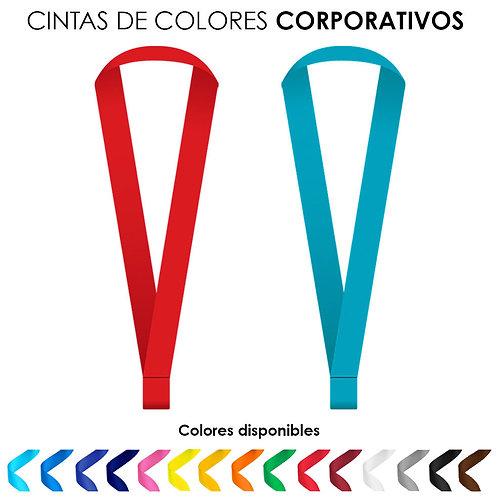 Cinta de cuello de colores corporativos sin impresión