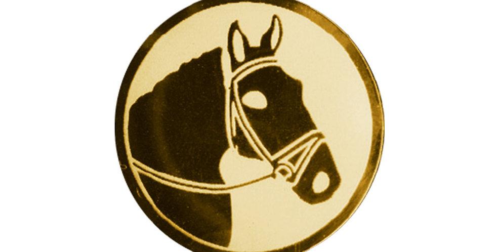 Inserto para trofeo de equitación