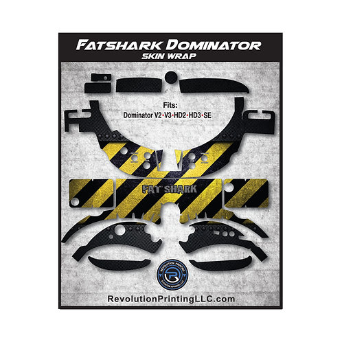 FPV Goggles Skin Wrap - FATSHARK DOMINATOR (Danger Yellow)