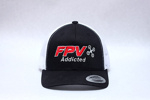 FPV Addicted!! Trucker hat w/ 3d Puff Embroidery