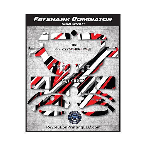FPV Goggles Skin Wrap - FATSHARK DOMINATOR (RBGW Stripes)