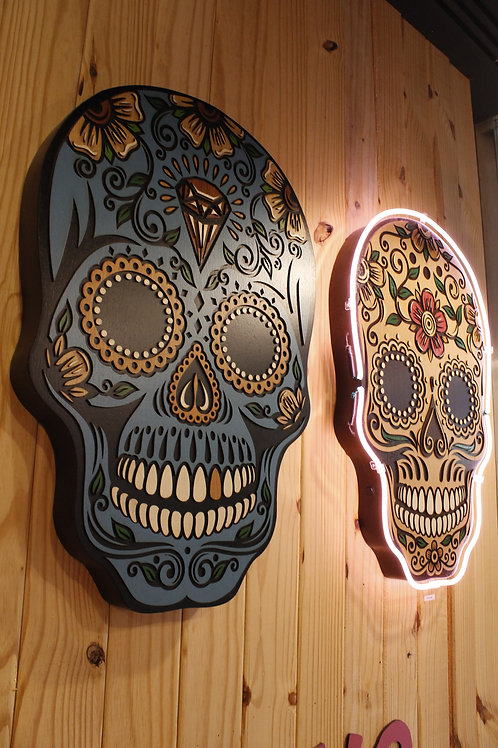 NEON MEXICAN SKULL
