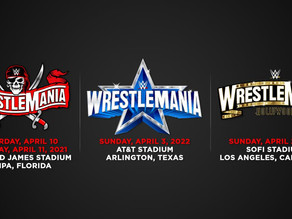 WrestleMania set for Tampa Bay in 2021; Dallas in 2022; Los Angeles in 2023