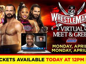 WWE Virtual Meet & Greets taking place throughout WrestleMania Week