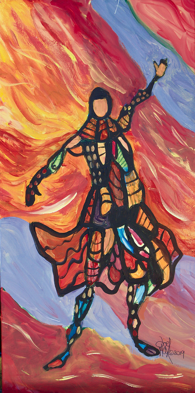Stained Glass Warrior