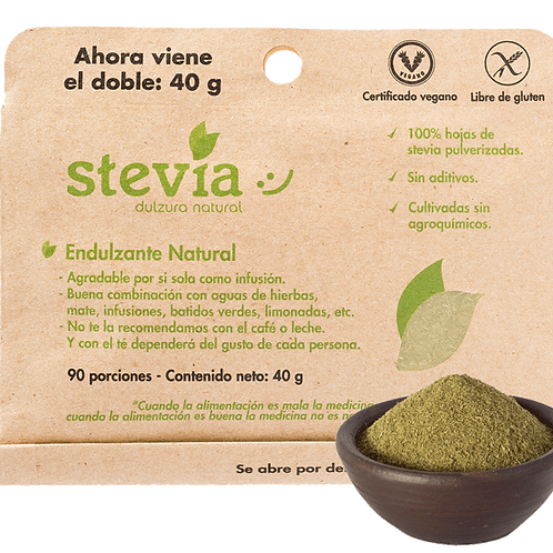 Stevia en polvo