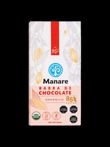 Barra de chocolate orgánico 85%cacao