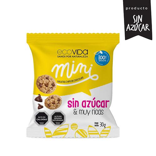 Mini chips chocolate galleta sin azúcar 30g